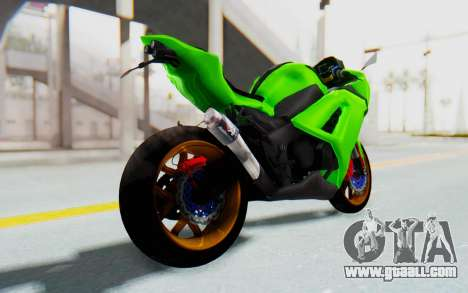 Kawasaki Ninja 250 Abs Streetrace for GTA San Andreas left view