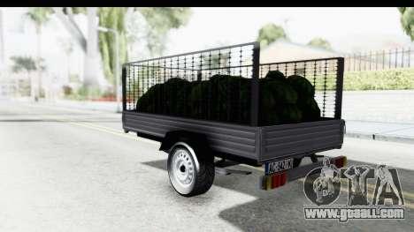 Volkswagen T4 Trailer for GTA San Andreas left view