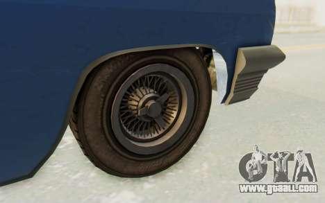 GTA 5 Declasse Voodoo Alternative v2 PJ for GTA San Andreas back view