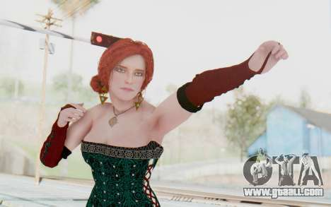 The Witcher 3 - Triss Merigold Dress for GTA San Andreas