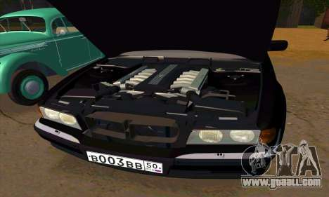 BMW 740i E38 for GTA San Andreas bottom view