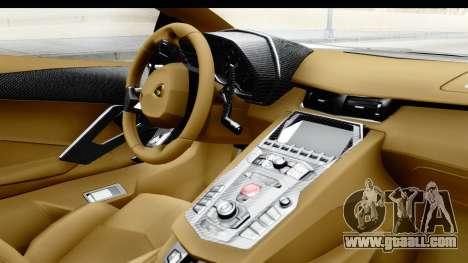 Lamborghini Aventador LP700-4 Novitec Torado for GTA San Andreas right view