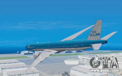 Boeing 777-300ER KLM - Royal Dutch Airlines v5 for GTA San Andreas right view