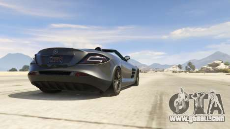 GTA 5 Mercedes-Benz SLR 722s Roadster & Mansory right side view