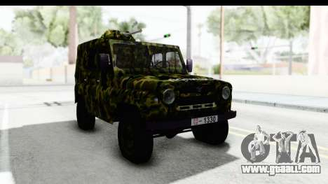 UAZ-469 Military police of Serbia for GTA San Andreas right view