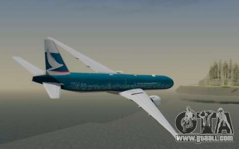 Boeing 777-300ER Cathay Pacific Airways v2 for GTA San Andreas left view