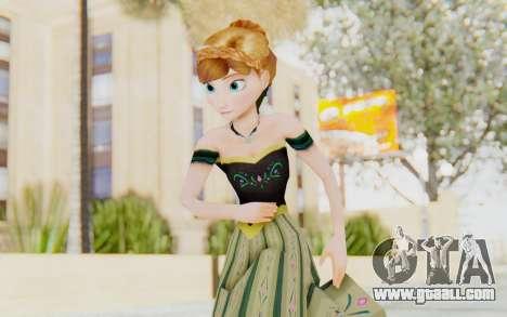 Frozen - Anna Coronation Dress for GTA San Andreas