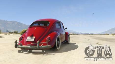 GTA 5 1963 Volkswagen Beetle 1.0.1 back view