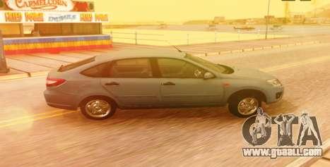 Lada Granta Liftback Beta v1 for GTA San Andreas back left view