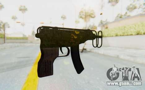 VZ-61 Skorpion Fold Stock Russian Gorka Camo for GTA San Andreas second screenshot