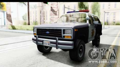 Ford Bronco 1982 Police for GTA San Andreas right view