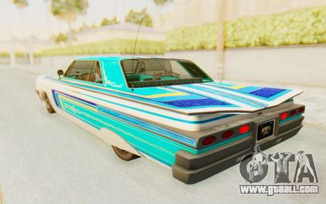 GTA 5 Declasse Voodoo Alternative v2 for GTA San Andreas upper view