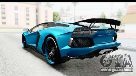 Lamborghini Aventador LP700-4 Novitec Torado for GTA San Andreas inner view