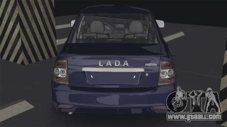 Lada Priora 2170 for GTA San Andreas back left view
