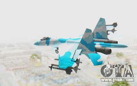 SU-37 American Ornament for GTA San Andreas left view