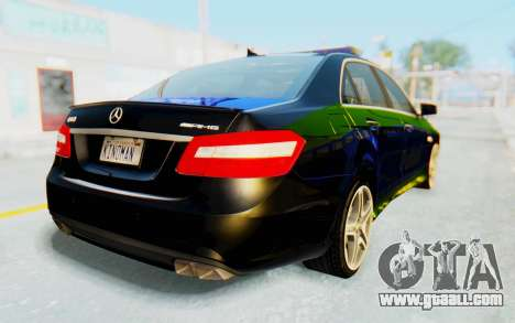 Mercedes-Benz E63 German Police Blue-Yellow for GTA San Andreas left view