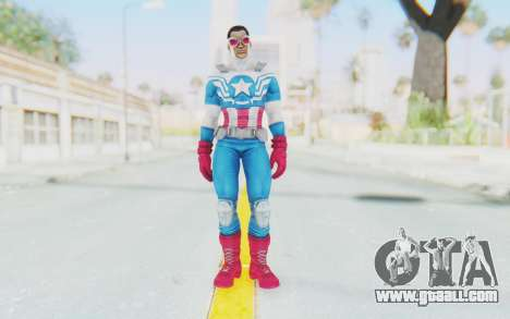 Marvel Heroes - Capitan America Sam Wilson for GTA San Andreas second screenshot