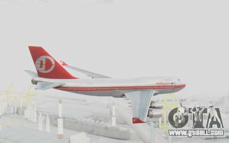 Boeing 747-200 Malaysia Airlines for GTA San Andreas right view