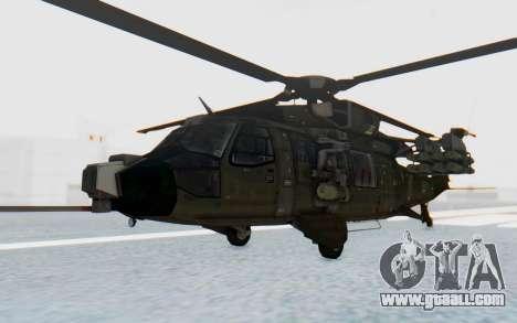 MGSV Phantom Pain UTH-66 Blackfoot for GTA San Andreas back left view