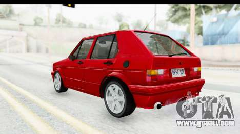 Volkswagen Golf Citi 1.8 1998 for GTA San Andreas left view