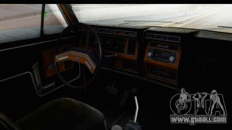 Ford Bronco 1980 Roof IVF for GTA San Andreas inner view