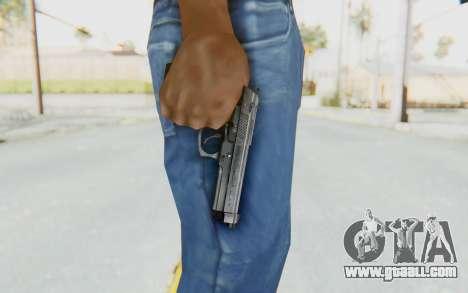 Tariq Iraqi Pistol Back v1 Silver for GTA San Andreas third screenshot