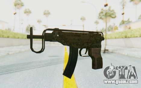 VZ-61 Skorpion Fold Stock Russian Gorka Camo for GTA San Andreas