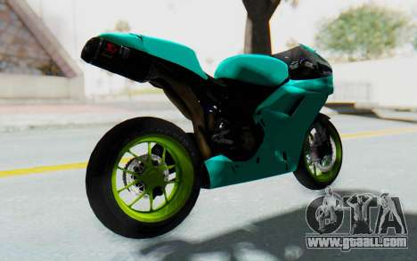 Ducati 1098R Streetrace for GTA San Andreas back left view
