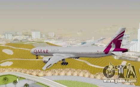 Boeing 777-300ER Qatar Airways v1 for GTA San Andreas left view