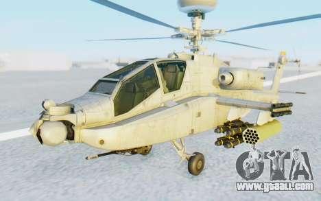 AH-64 Apache Marines for GTA San Andreas right view