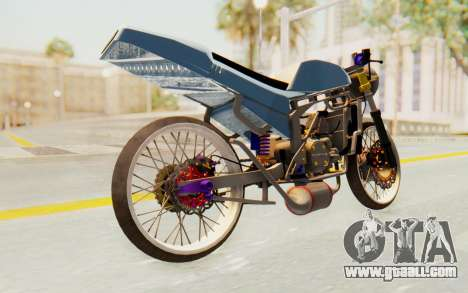 Kawasaki Ninja 150S Thailock for GTA San Andreas back left view