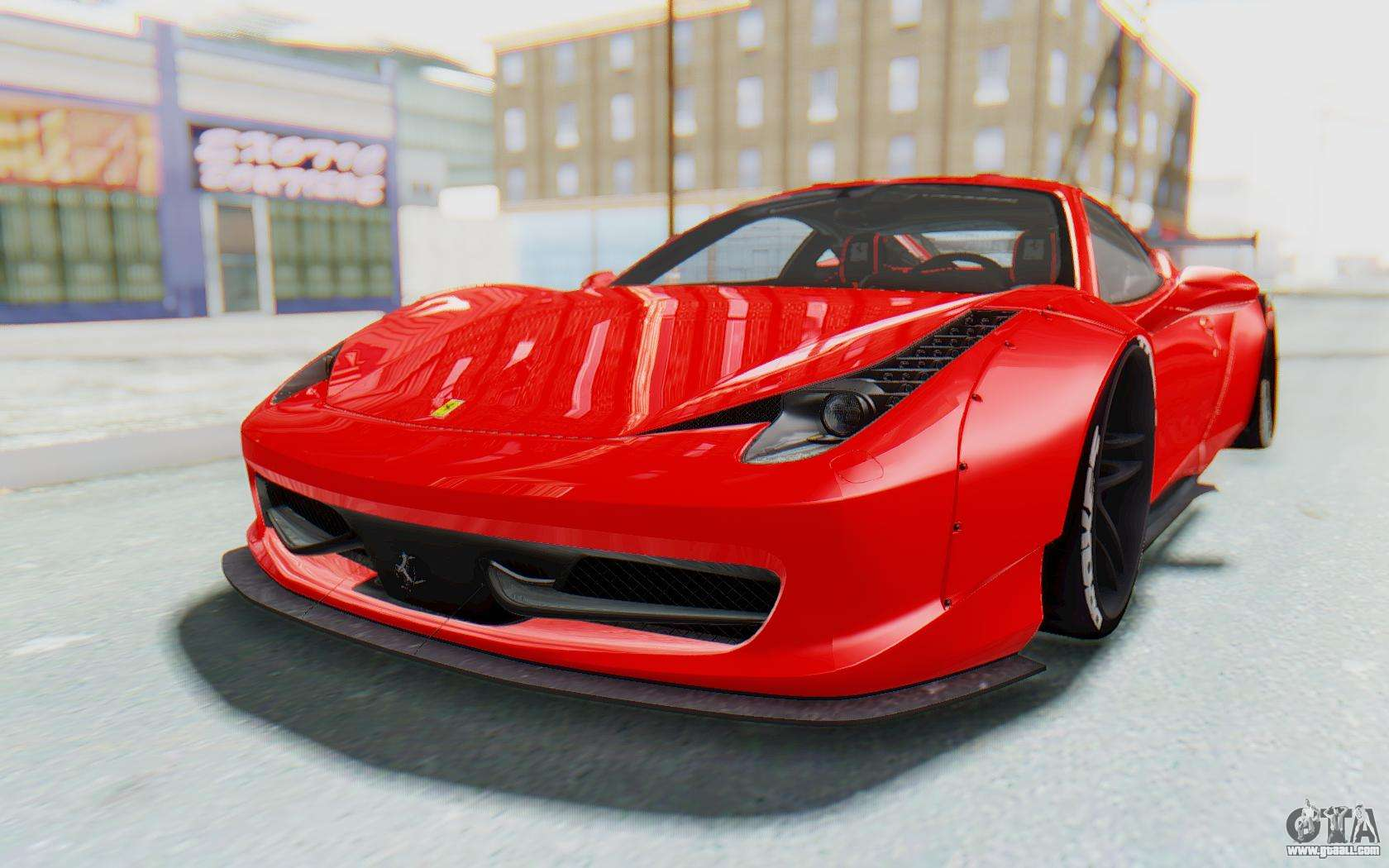 ferrari 458 liberty walk for gta san andreas. Black Bedroom Furniture Sets. Home Design Ideas