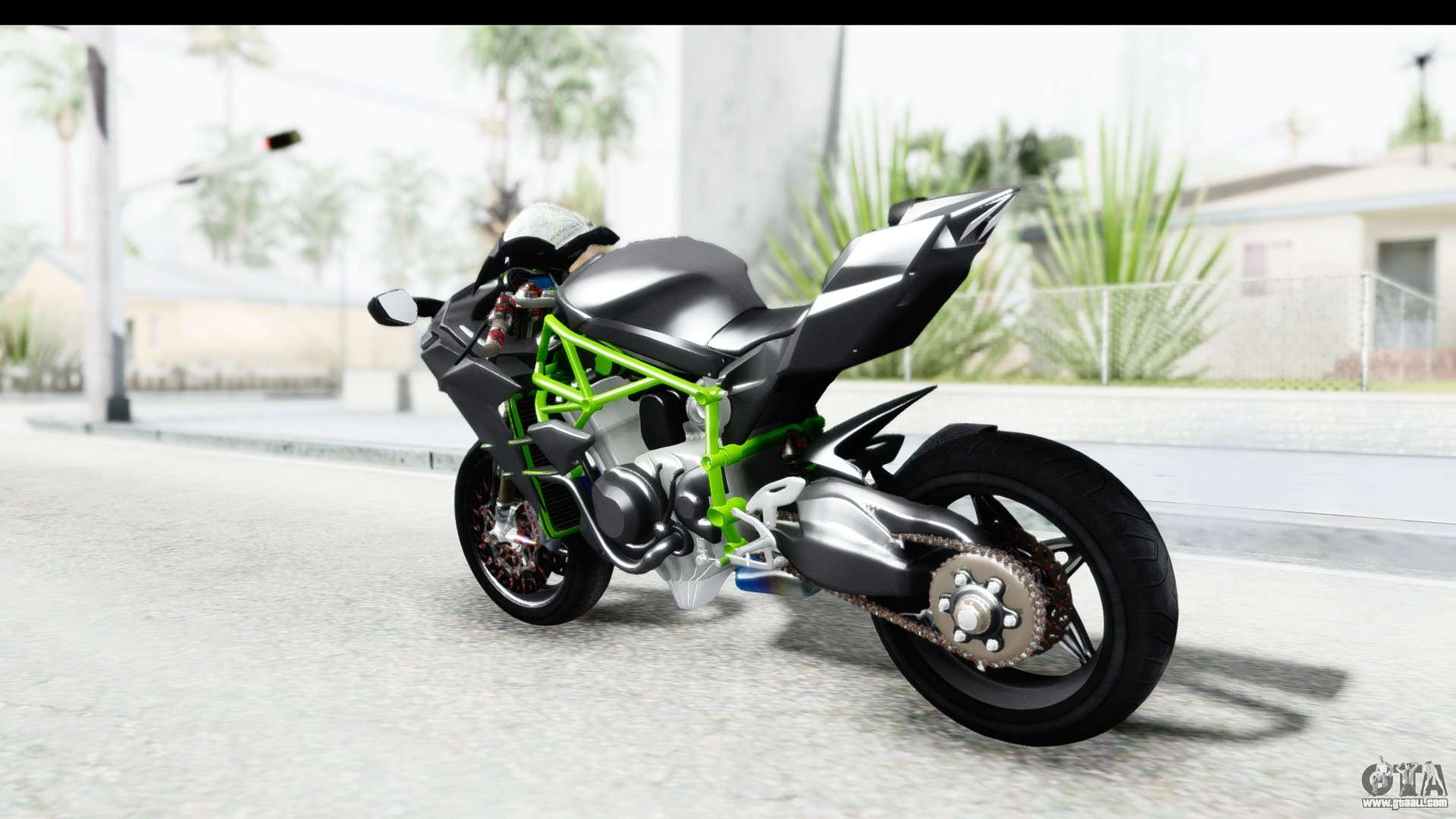 kawasaki ninja h2r black for gta san andreas. Black Bedroom Furniture Sets. Home Design Ideas