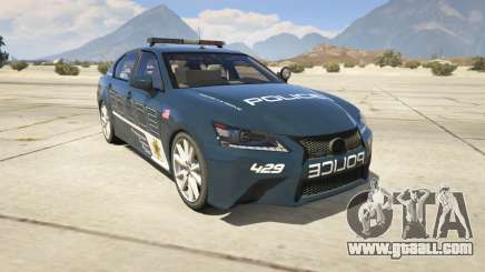 Lexus GS 350 Hot Pursuit Police for GTA 5