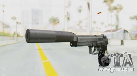 Tariq Iraqi Pistol Back v1 Silver Silenced for GTA San Andreas