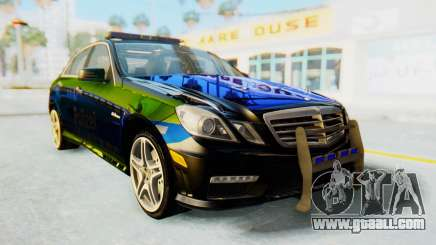 Mercedes-Benz E63 German Police Blue-Yellow for GTA San Andreas