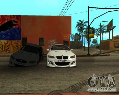 BMW M3 Armenian for GTA San Andreas upper view