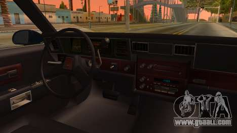 Chevrolet Caprice 1989 Station Wagon IVF for GTA San Andreas inner view