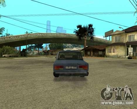 VAZ 2107 Armenian for GTA San Andreas back view