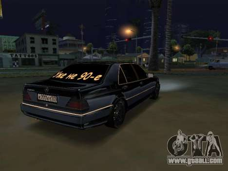 Mersedes-Benz W140 600SEL for GTA San Andreas left view