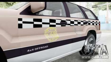 GTA 5 Canis Seminole Taxi Saints Row 4 for GTA San Andreas inner view