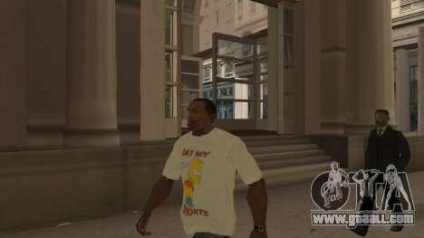 Bart Simpson T-Shirt for GTA San Andreas second screenshot