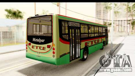 Metalpar Tronador 2 Puertas ETCE GTA Micros Arg for GTA San Andreas back left view
