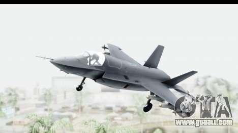 Lockheed Martin F-35B Lightning II for GTA San Andreas back left view