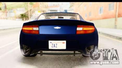 GTA 5 Dewbauchee Rapid GT for GTA San Andreas bottom view