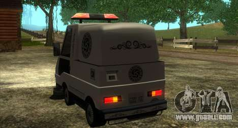 New Sweeper IVF for GTA San Andreas back view