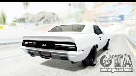 Chevrolet Camaro SS 1968 White Edition for GTA San Andreas back left view