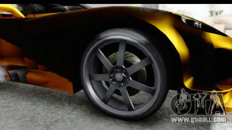 NFS Carbon Chevrolet Corvette for GTA San Andreas back view