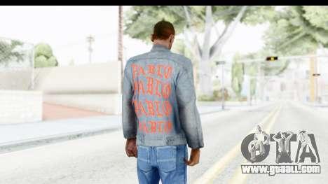PABLO Denim Jacket for GTA San Andreas third screenshot