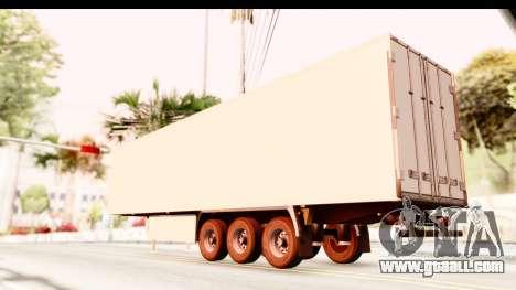 Trailer ETS2 v2 New Skin 2 for GTA San Andreas left view